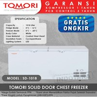 TOMORI SOLID DOOR CHEST FREEZER SD1018