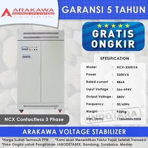 Stabilizer Arakawa NCX 3 Phase NCX320KVA