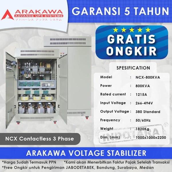 Stabilizer Arakawa NCX 3 Phase NCX-800KVA
