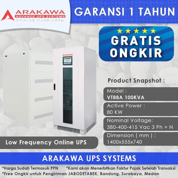 UPS Arakawa ON-LINE VT88A 100KVA