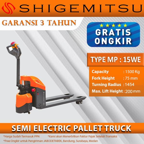 Shigemitsu Semi-Electric Pallet Truck MP15W-E