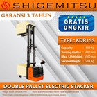 Shigemitsu Double Pallet Electric Stacker KDR15S-II-1150-3500 1