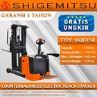 Shigemitsu Counterbalanced Electric Reach Stacker KQD15R-1150-5600 1