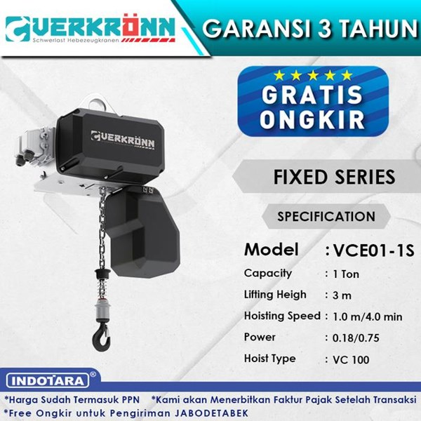 Electric Wire Rope Hoist Verkronn VC Fixed Series VCE01-1S