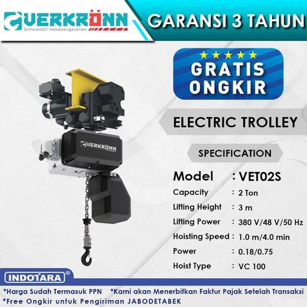 Electric Wire Rope Hoist Verkronn VC Electric Trolley VET02S 2T