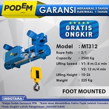 Electric Wire Rope Hoist Podem Foot Mounted MT312 (2 Rope Falls)