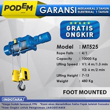 Electric Wire Rope Hoist Podem Foot Mounted MT525 (4 Rope Falls)