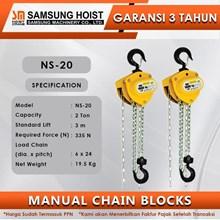 Manual Chain Block Samsung Cap NS-20