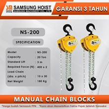 Manual Chain Block Samsung Cap NS-200
