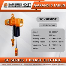Electric Chain Hoist Samsung SC Series 1 Phase SC-S050SP