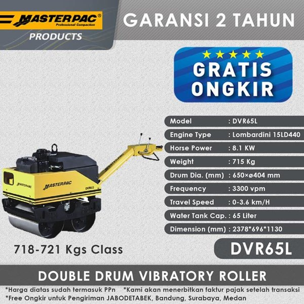 Masterpac Double Drum Roller DVR65L