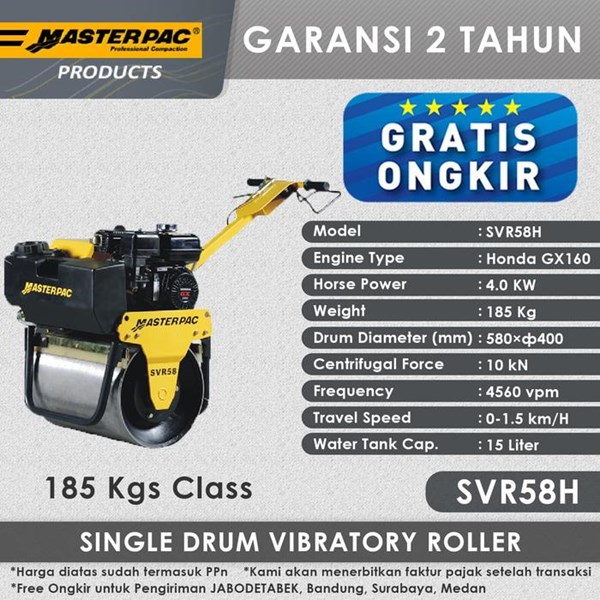Masterpac Single Drum Roller SVR58H
