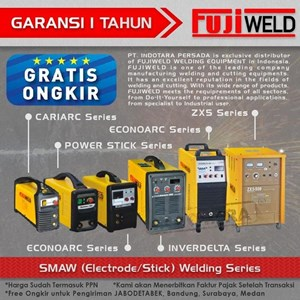 Dari Mesin Las SMAW (Electrode/Stick) Welding Fujiweld Inverdelta 400I 5