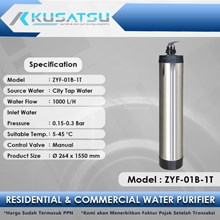 Kusatsu Manual Water Purifier ZYF-01B-1T 1000L