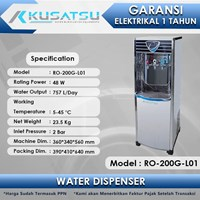 Luxury Stainless Steel Water Dispenser RO-200G-L01 125W Kusatsu