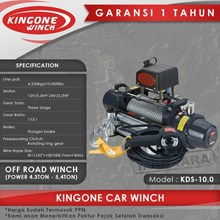 Kingone Car Off Road Electric Winch KDS 10.0