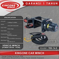 Kingone Car Industrial Vehicle Electric Winch TDS 16.5