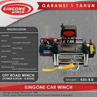 Kingone Car Off Road Electric Winch KDS 8.0