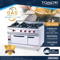 Kompor Gas + Oven / Gas Stove + Oven and Side Grilled Tomori TGR-992E