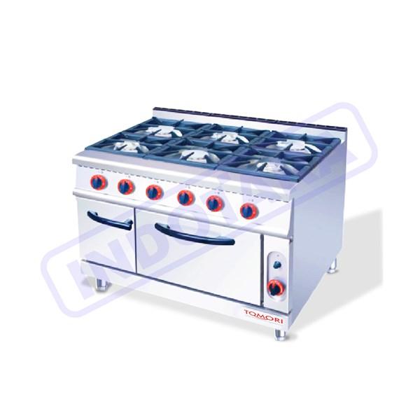 Kompor Gas + Oven / Gas Stove + Oven and Side Grilled Tomori TGR-992E