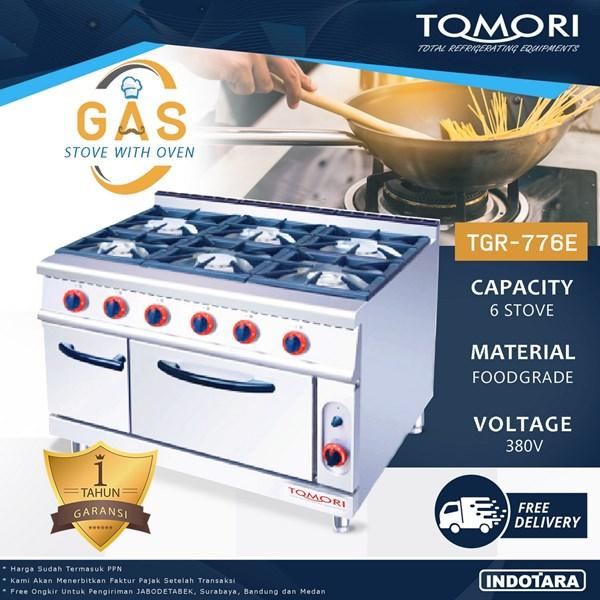 Kompor Gas + Oven / Gas Stove + Oven Tomori TGR-776E