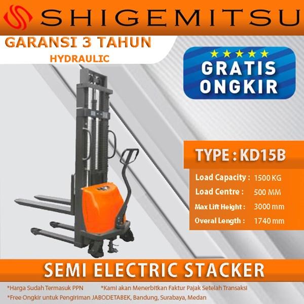 Shigemitsu Semi-Electric Stacker KD15B 3000