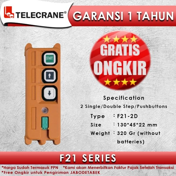 Telecrane Remote Controller F21-2D Double Speed