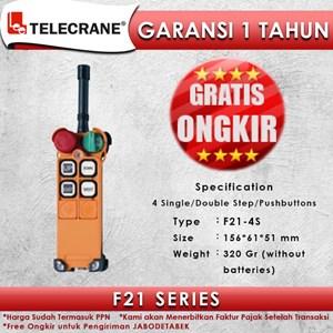 Telecrane Remote Controller F21-4S Single Speed