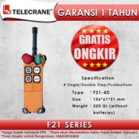 Telecrane Remote Controller F21-4D Single Speed