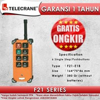 Telecrane Remote Controller F21-E1B Single Speed