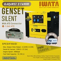 Genset Diesel IWATA 6Kva Silent - PWM7500-SE with ATS Connector plus ATS