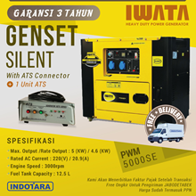 Genset Diesel 5Kva Silent - PWM5000-SE with ATS Co