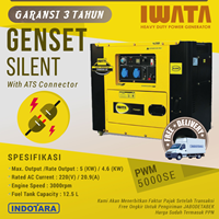 Genset Diesel IWATA 5Kva Silent - PWM5000-SE with ATS Connector