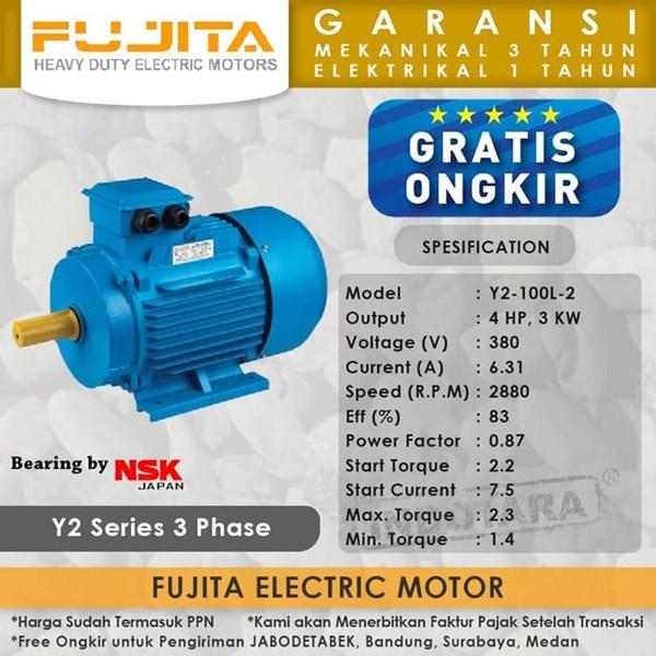 Fujita Electric Motor 3 Phase Y2-100L-2
