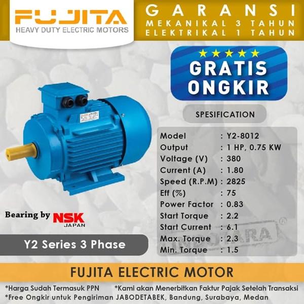 Fujita Electric Motor 3 Phase Y2-8012