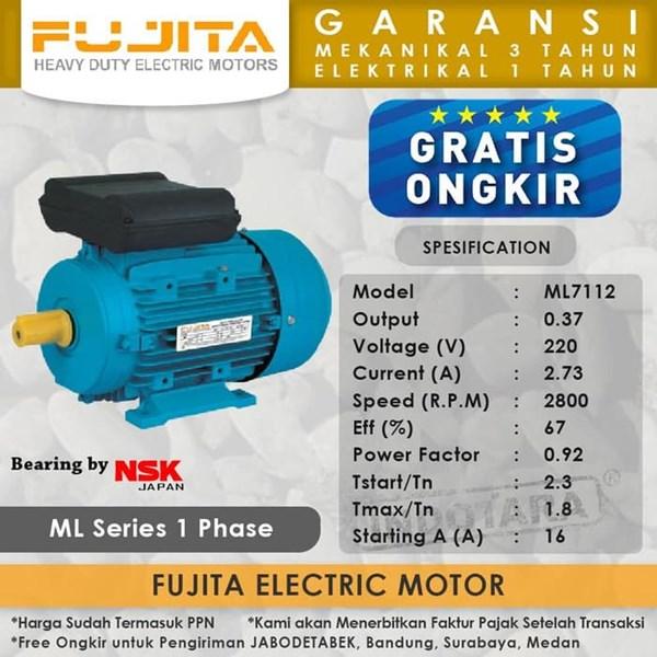 Fujita Electric Motor 1 Phase ML7112