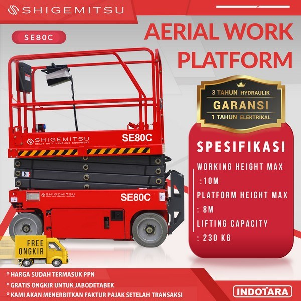 Tangga Elektrik - Aerial Work Platform Shigemitsu SE80C