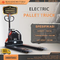 Shigemitsu Electric Pallet Truck Lithium Battery MP15W-BLI