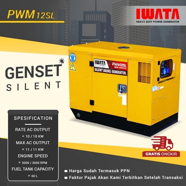 Genset Diesel IWATA 10Kva Silent - PWM12-SL