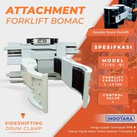 Sideshifting Drum Clamps - TJ19S-B1 (Attachment Forklift Bomac)