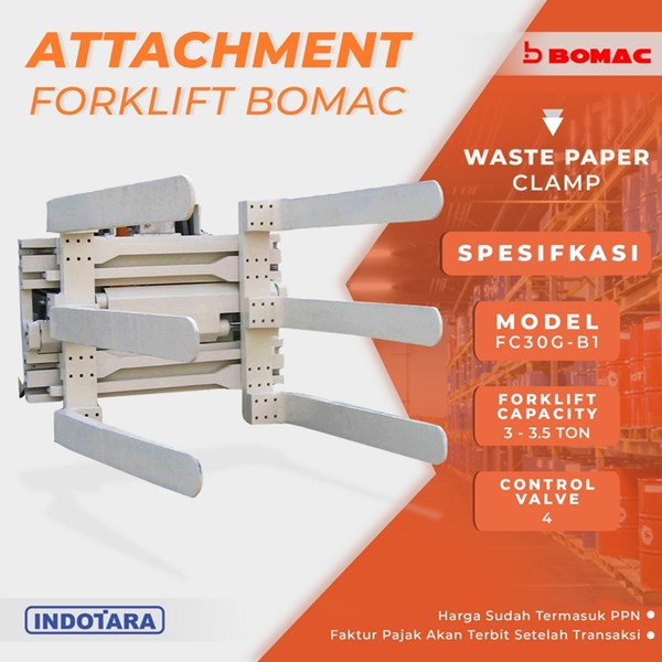 Waste Paper Clamp - FC30G-B1 (Attachment Forklift Bomac)