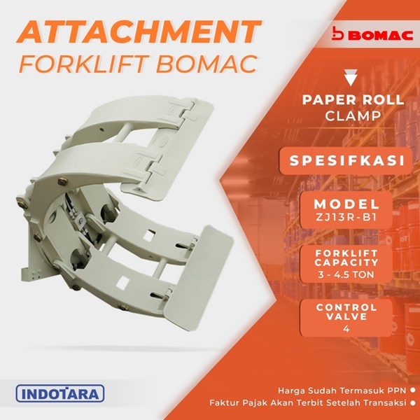 Paper Roll Clamp - ZJ13R-B1 (Attachment Forklift Bomac)