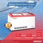 Sliding Curve Glass Freezer TOMORI CG-258 1