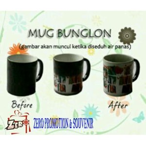 Mug Bunglon Mug Magic Sablon Foto Souvenir