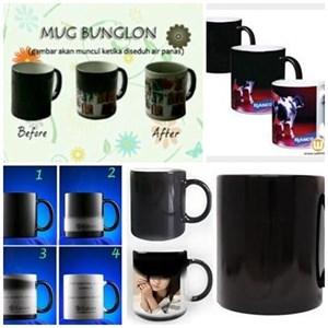 Mug Bunglon Mug Magic Sablon Foto Souvenir