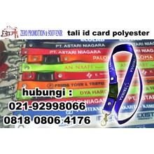 Gantungan ID Card Tali Badge ID Nylon sablon logo