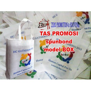 Produksi Tas Spunbond model kotak  box  goodie bag promosi