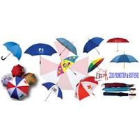 Jual  souvenir payung standart rangka hitam bisa sablon logo 2