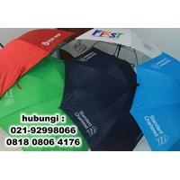 Beli  souvenir payung standart rangka hitam bisa sablon logo 4