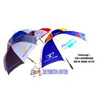 souvenir payung standart rangka hitam bisa sablon logo 1